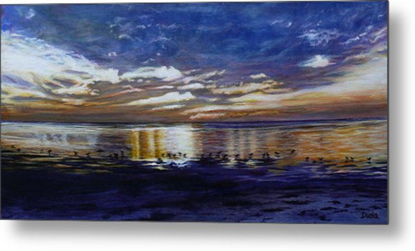 Green Key Sunset Metal Print