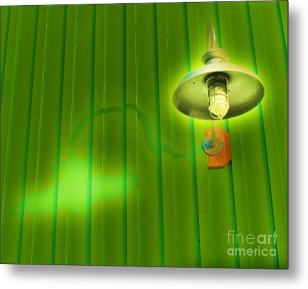 Green Light Metal Print
