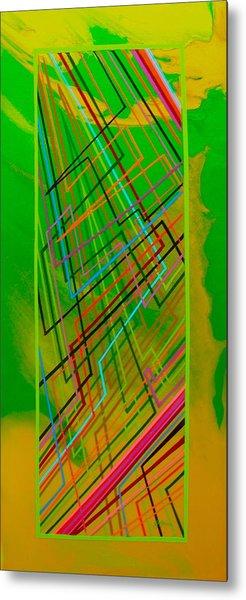 Green Lightning Metal Print