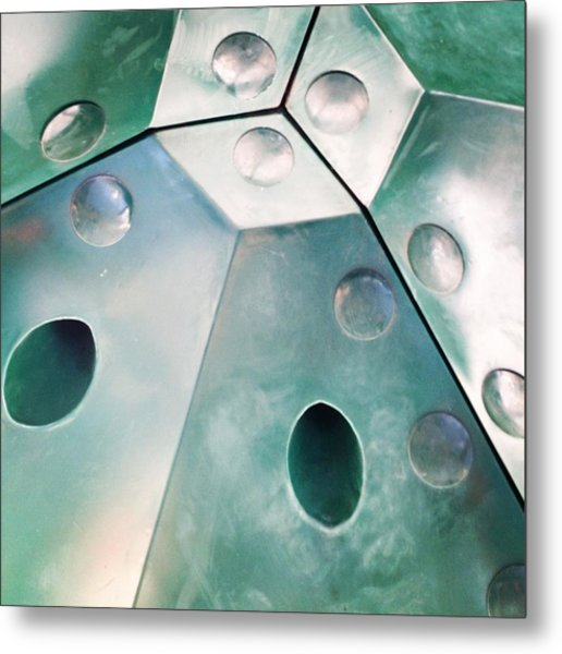 Green Metal Abstract Metal Print