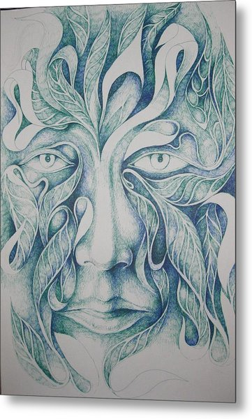Green Metal Print by Moshfegh Rakhsha
