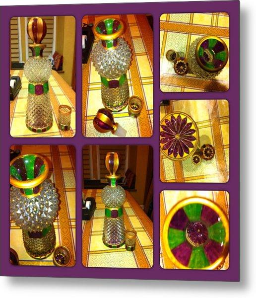 Green N' Purple Metal Print