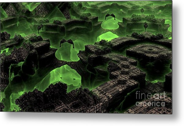 Green Odyssey Metal Print by Bernard MICHEL