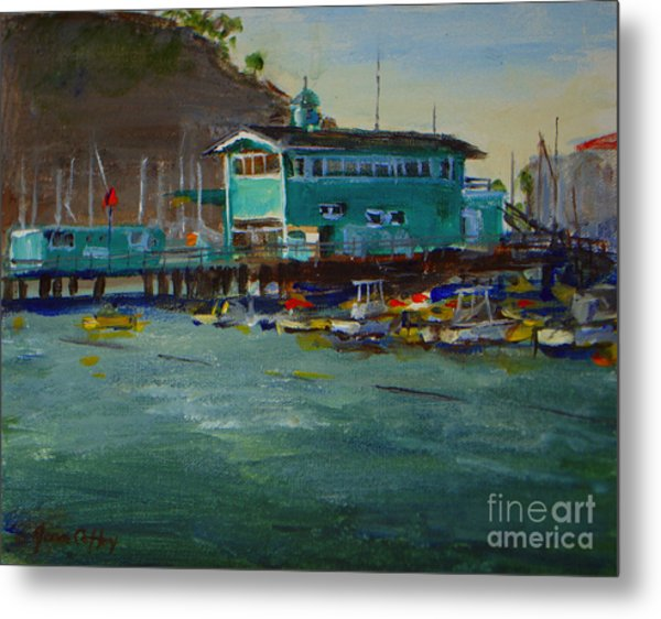 Green Pier Early Evening Metal Print