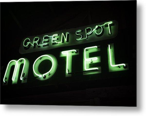 Green Spot Motel Metal Print