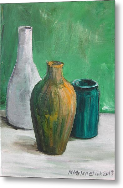 Green Still Life 2013 Metal Print by Maria Melenchuk