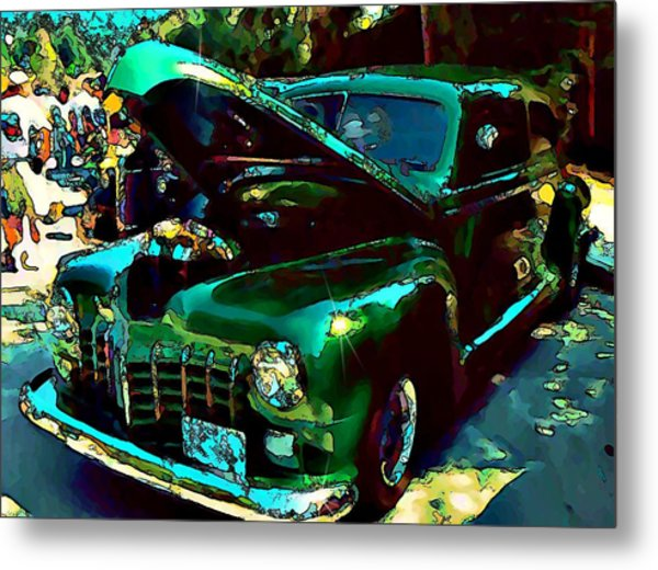 Green Street Machine Metal Print