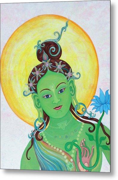 Green Tara Metal Print by Sarah Grubb