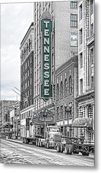 Green Tennessee Theatre Marquee Metal Print
