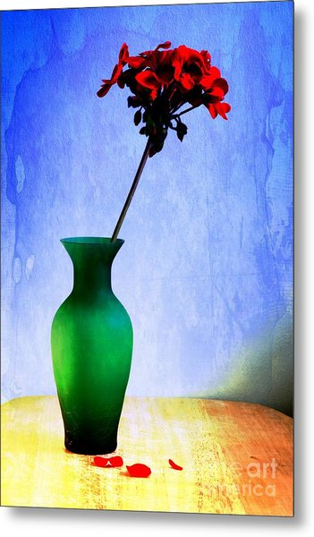 Green Vase 2 Metal Print by Donald Davis