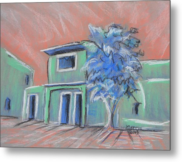 Green Village Metal Print by Marcia Meade