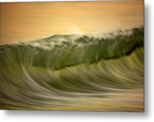 Green Wave #2  C6j7496 Metal Print