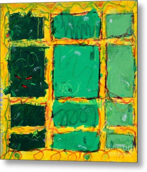 Green Windows Metal Print by Kelly Athena