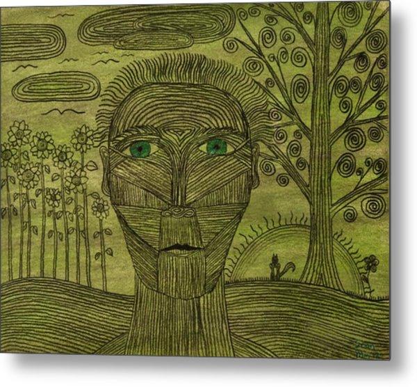 Green World Metal Print by Sean Mitchell