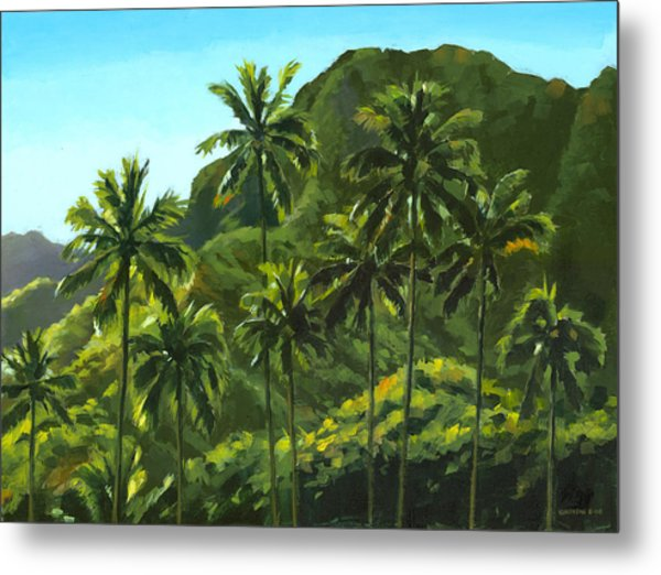 Greens Of Kahana Metal Print
