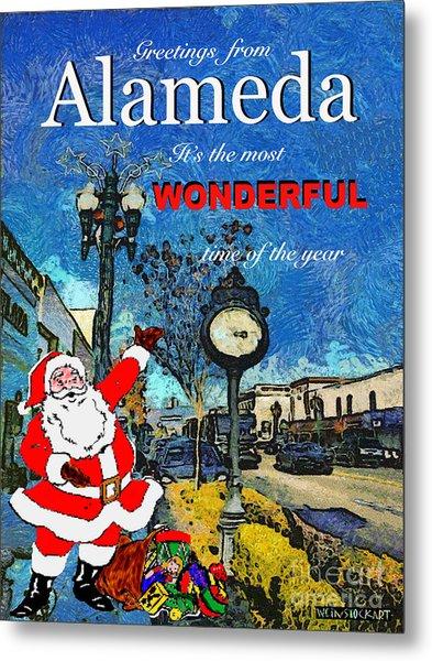 Alameda Christmas Greeting Metal Print