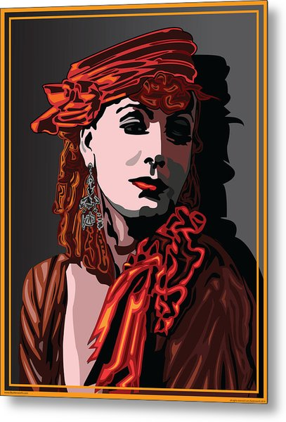 Greta Garbo Hollywood The Golden Age Metal Print by Larry Butterworth