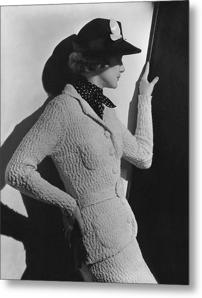 Gretchen Uppercue Wearing A Suit And Hat Metal Print