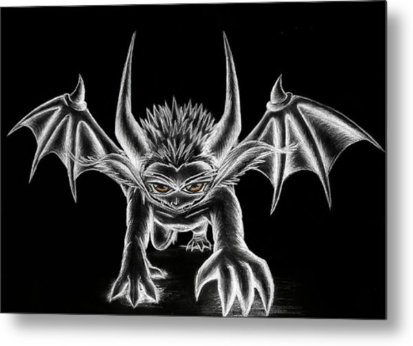 Grevil Chalk Metal Print