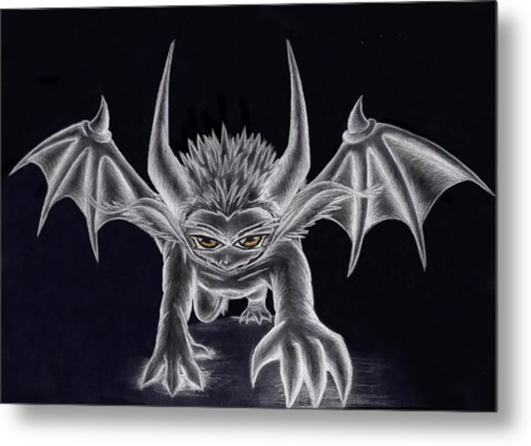 Grevil Silvered Metal Print