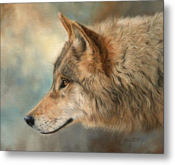 Grey Wolf 3 Metal Print