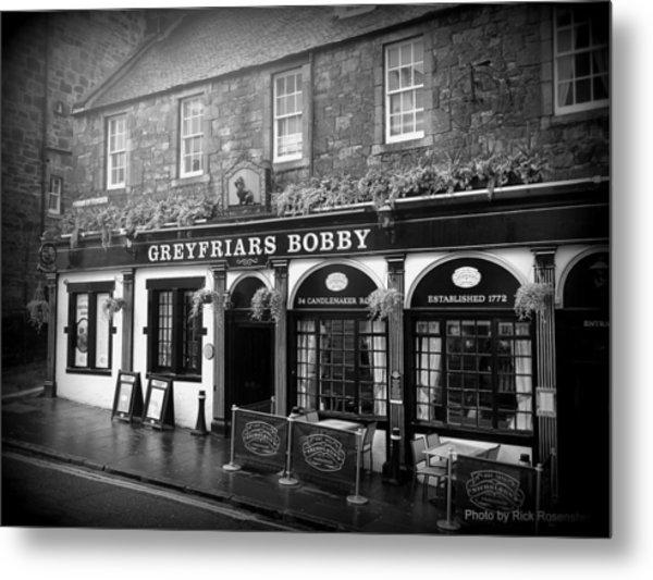Greyfriars Bobby In Edinburgh Scotland  Metal Print