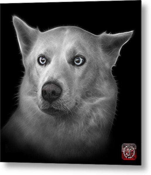 Greyscale Mila - Siberian Husky - 2103 - Bb Metal Print