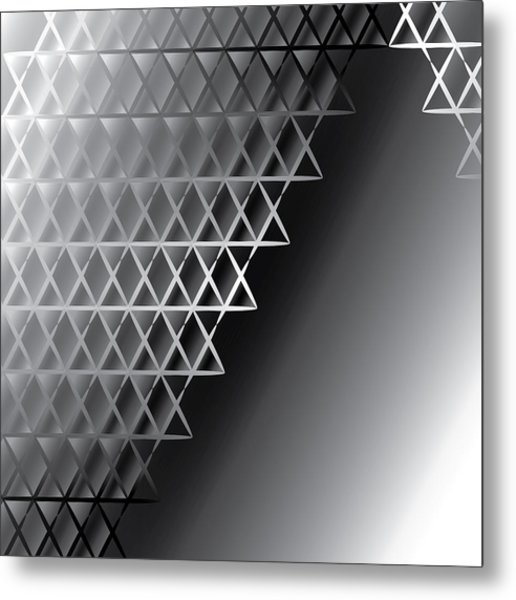 Grid 60 Float Metal Print