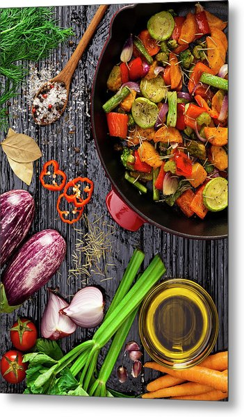 Grilled Vegetables Metal Print by Fcafotodigital