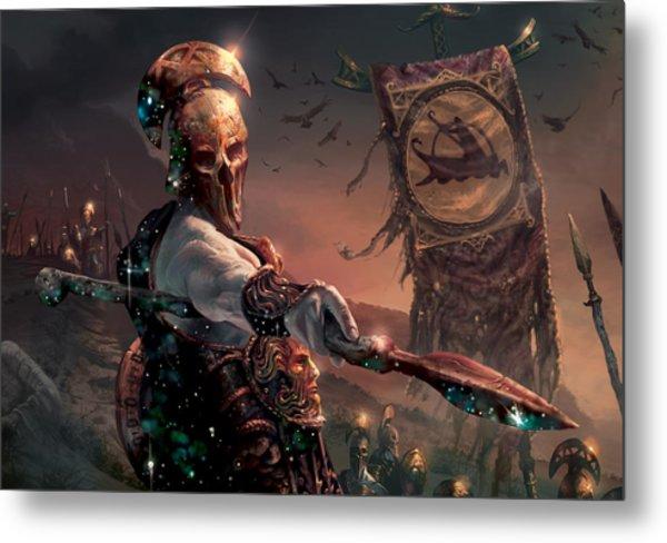 Grim Guardian Metal Print