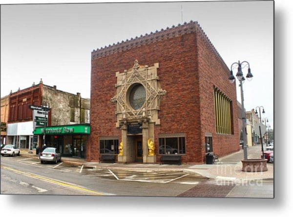 Grinnell Iowa - Louis Sullivan - Jewel Box Bank - 02 Metal Print