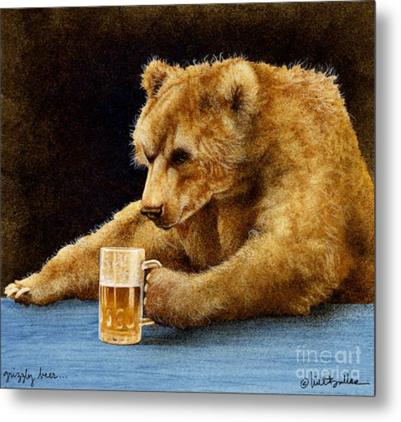 Grizzly Beer... Metal Print