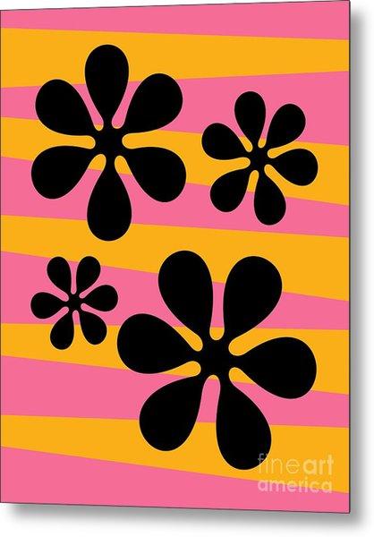 Groovy Flowers I Metal Print