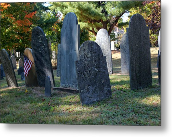 Groton Cemetery 3 Metal Print by Mary Bedy