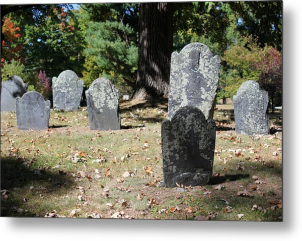 Groton Cemetery 5 Metal Print by Mary Bedy