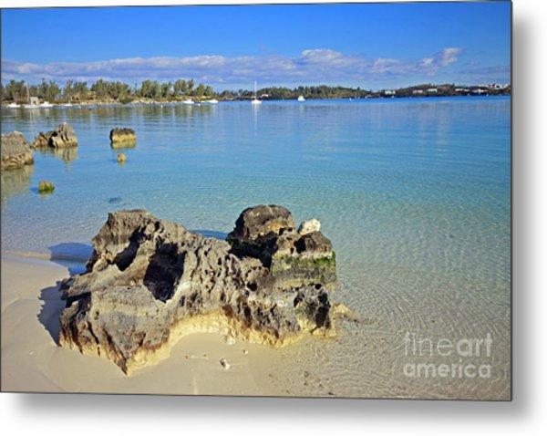 Grotto Bay Beach Metal Print