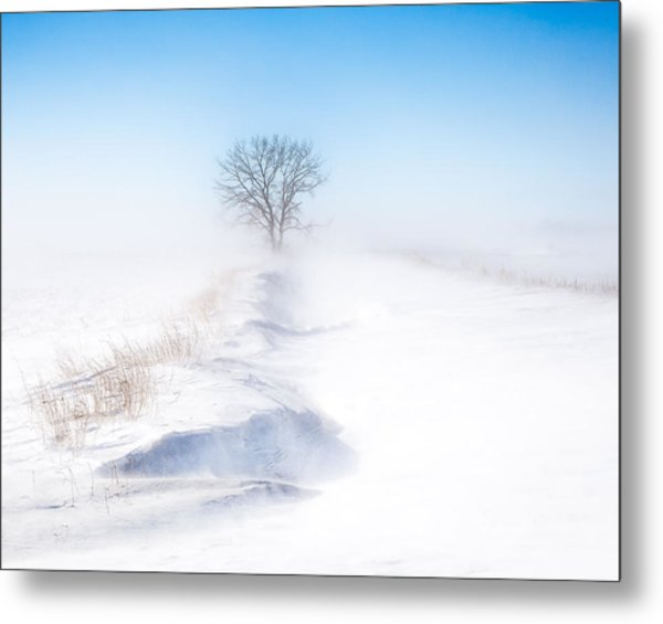 Ground Blizzard Metal Print