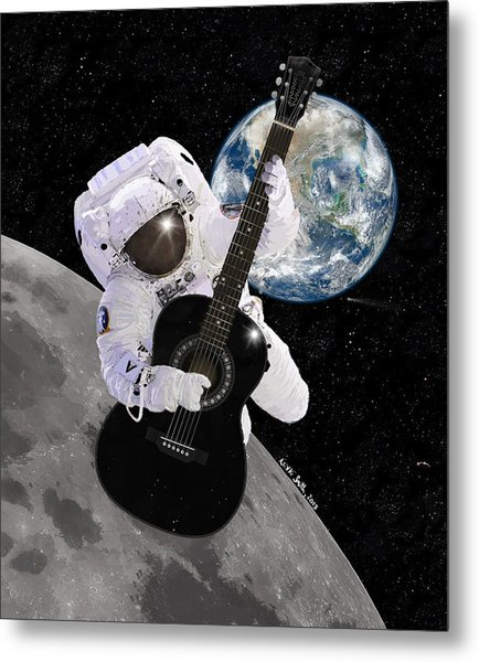 Metal Print featuring the digital art Ground Control To Major Tom by Nikki Marie Smith