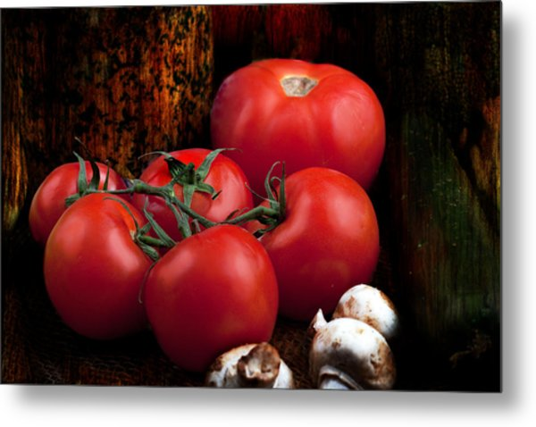 Group Of Vegetables Metal Print
