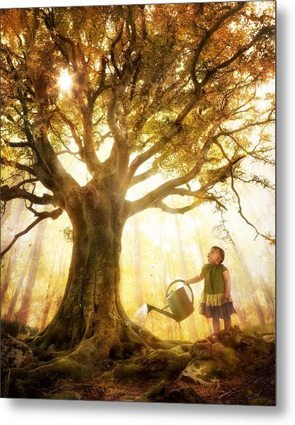 Growing Up Is Made Of Small Things Metal Print by Christophe Kiciak
