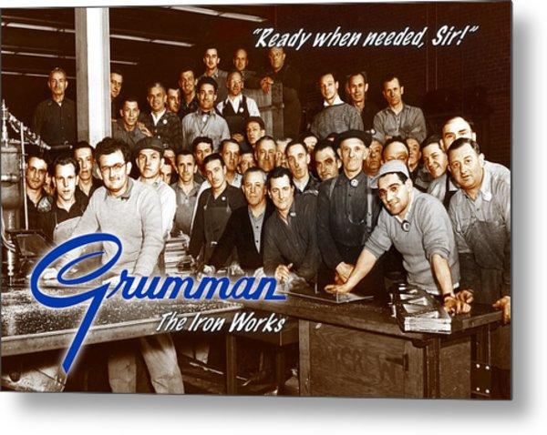 Grumman Iron Works Shop Workers Metal Print