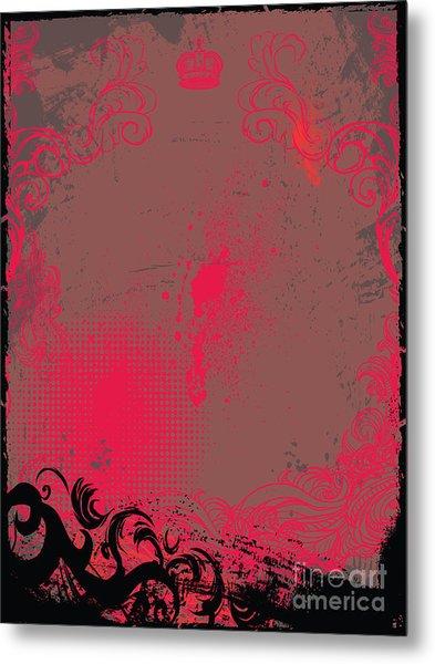 Grunge Background Metal Print