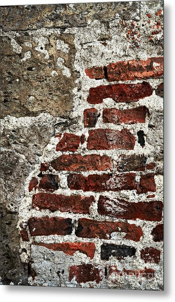 Grunge Brick Wall Metal Print