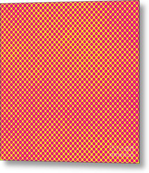 Grunge Halftone Background. Halftone Metal Print
