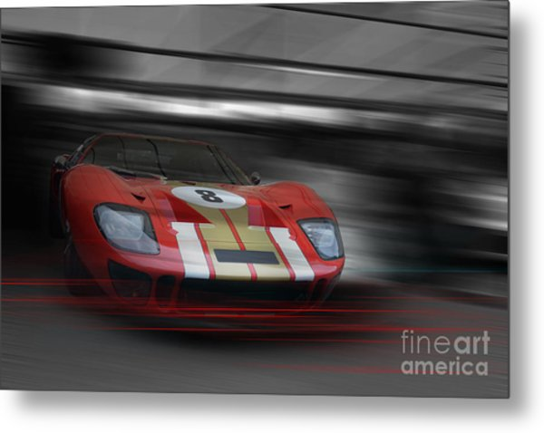 Gt40 Red Metal Print by Roger Lighterness