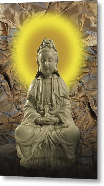 Guan Yin Metal Print