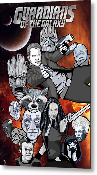 Guardians Of The Galaxy Collage Metal Print by Gary Niles