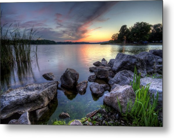 Guilford Lake Sunset Metal Print