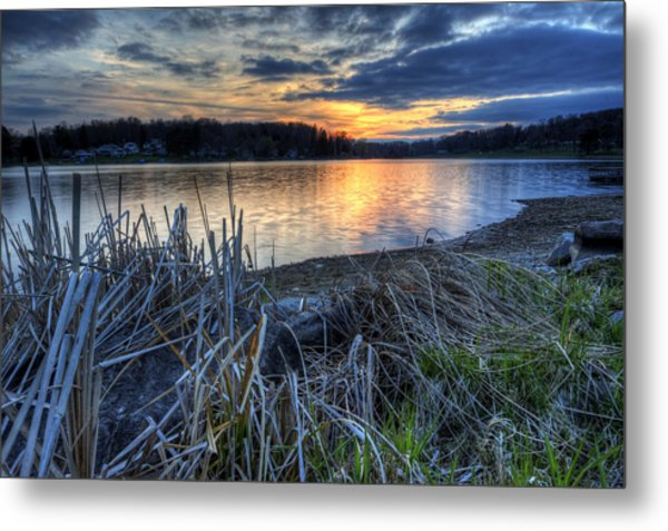 Guilford Lake Sunset Ohio Metal Print