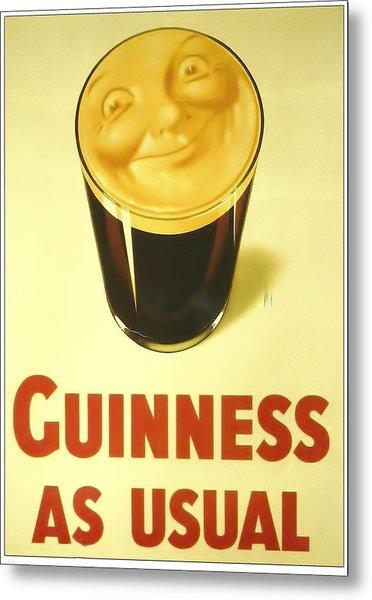 Guinness As Usual Metal Print